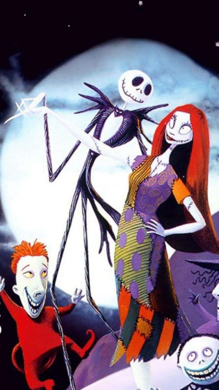 2014 iPhone 6 Wallpaper with Sally and Jack Skellington ...