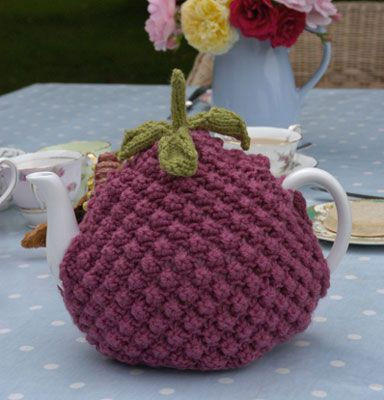 Raspberry Tea Cosy Knitting Kit - by Laughing Hens