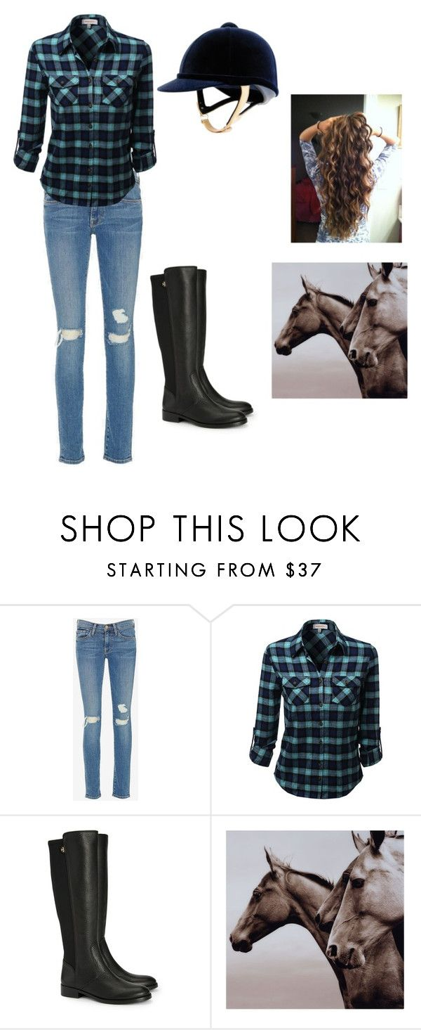 """horse back riding"" by emilymexioncerfan on Polyvore featuring Frame Denim and Tory Burch"