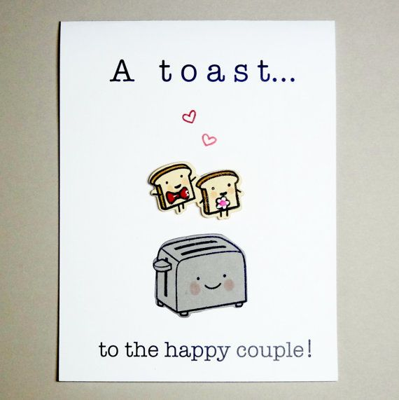 Wedding Card Engagement Card Funny Wedding by Nuts4Stampin on Etsy