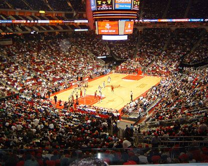 Toyota Center Houston. went to see the rocket!!!!