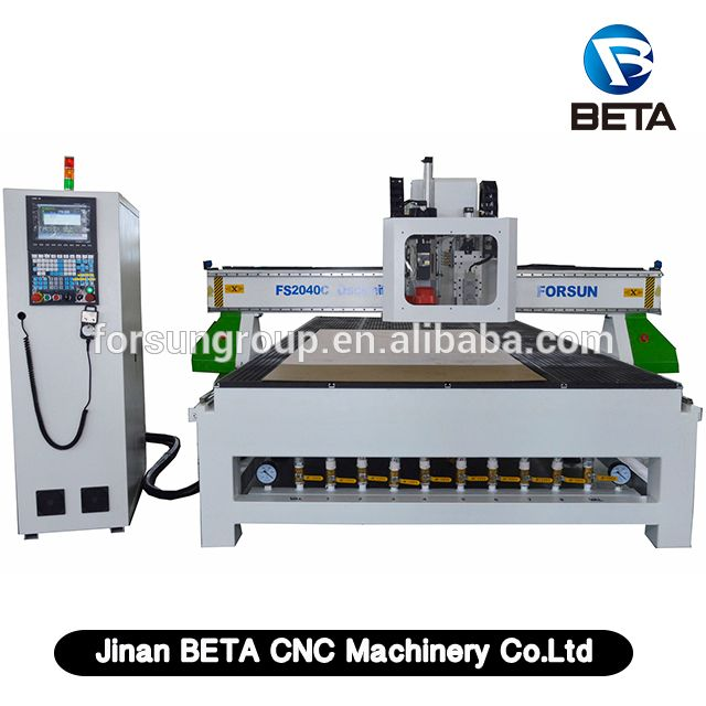 New design !! 3d ATC CNC Router machine with oscillating knife cutter for wood carton leather