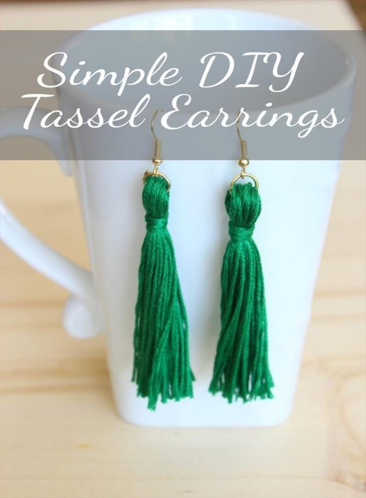 20 Diy Tassel Earring Craft Ideas Diy Fashion Diy Tassel