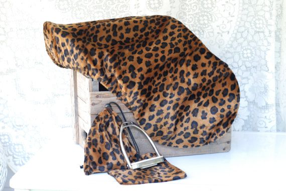 Cheetah All Purpose English Saddle Cover in by TheStitchingHorse