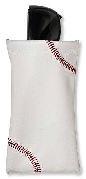 Baseball Sunglass Pouch from Zumer Sport - Made from real baseball material www.zumersport.com
