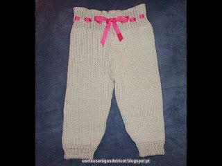 Os meus artigos de tricot (e desabafos de mãe): As calças da Diana