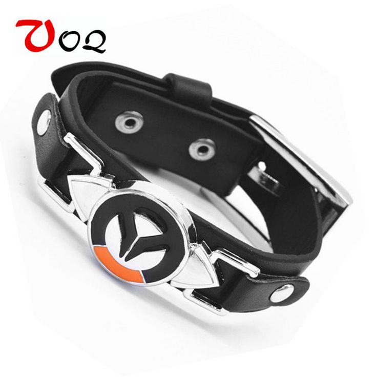 Black Friday Game Overwatch Bracelet Men Tracer Reaper OW Game Bracelets Entertainment Logo overWatch Wristband Leather Bracelet