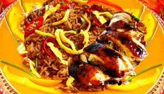 Surinaams eten – Nasi Trafasie Speciaal (nasi met speciaal geroosterde kip)