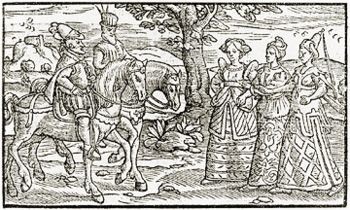 If Macbeth had never met the witches, he would have continued living under King Duncan's rule, oblivious to what could have been if he had been told what his future would be.