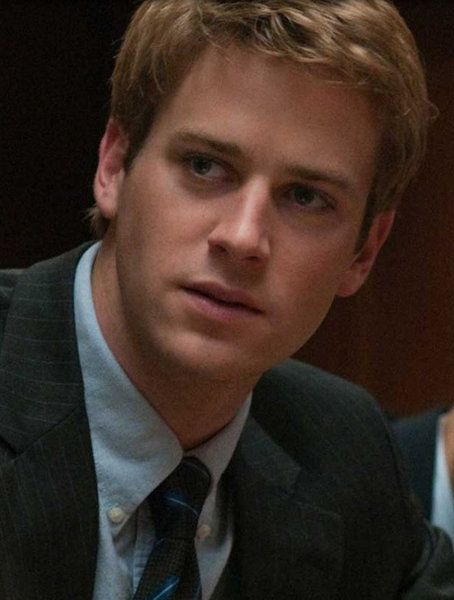Armie Hammer: Currently my number one choice to play Finnick Odair. He was in The Social Network. I think he has the perfect look, he's tall and built and he just has the right feel to me!
