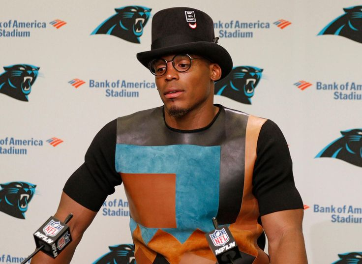 Cam Newton's post-game outfit was definitely a conversation starter