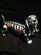 Sugat Skull Day Of The Dead Dotson Dachshund Weiner Dog Figurine Art
