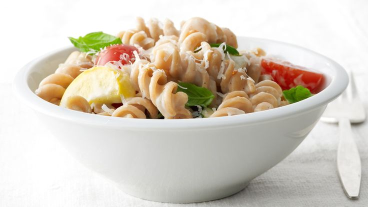 On your next Italian night, upgrade the pasta -- whole wheat adds extra fiber without extra effort. Pair it with veggies and a creamy sauce for a dinner kids will devour.