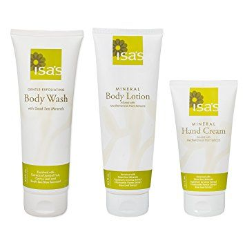 Isa's Naturals Dead Sea Minerals Body Lotion, Shower Gel and Hand Cream Gift Set Review
