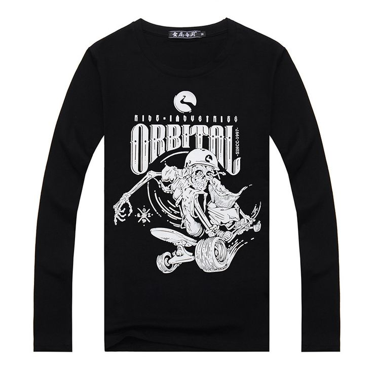 Skull Hoodies, Jackets, T-Shirts, Shoes, Boots and more Men's long sleeve... fined here http://rebelstreetclothing.com/products/mens-long-sleeve-t-shirt-orbital-skateboard-skull-print-odell-cotton-t-shirts-for-men-spring-winter-brand-clothing?utm_campaign=social_autopilot&utm_source=pin&utm_medium=pin