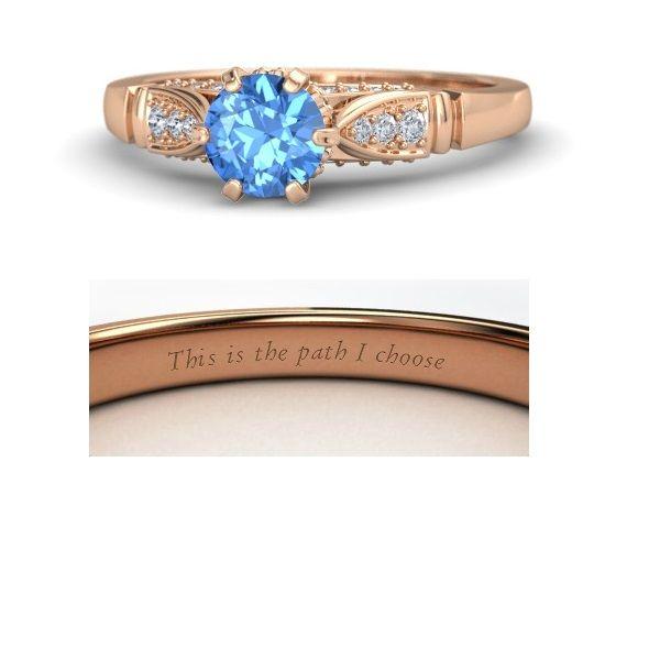 Disney princess rings: Pocahontas. (Elizabeth design from Gemvara)