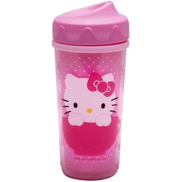Hello Kitty Sippy Cup ($9.99) ❤ liked on Polyvore featuring baby, baby girl, baby stuff, food and ddlg