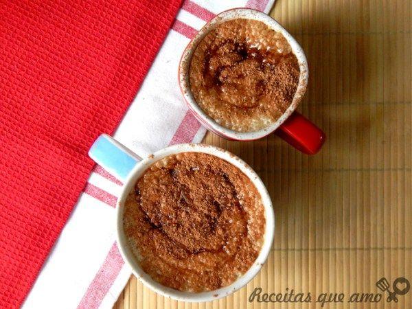 Café gelado com caramelo