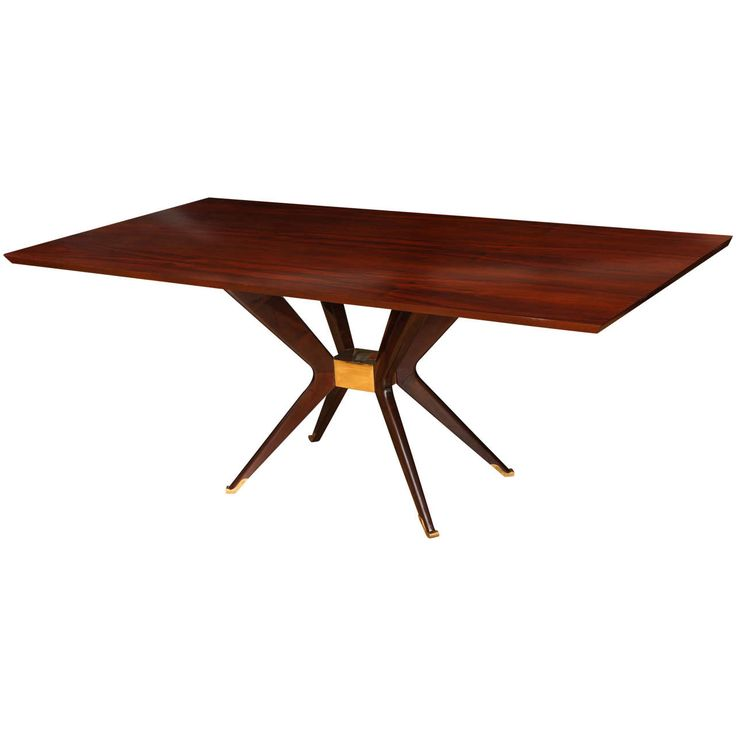 Modernist Dining Table | From a unique collection of antique and modern dining room tables at https://www.1stdibs.com/furniture/tables/dining-room-tables/