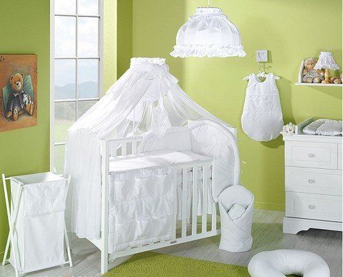 CANOPY / DRAPE / MOSQUITO NET TO FIT COT/COT BED with HOLDER (Brown Stripes with Holder): Amazon.co.uk: Baby