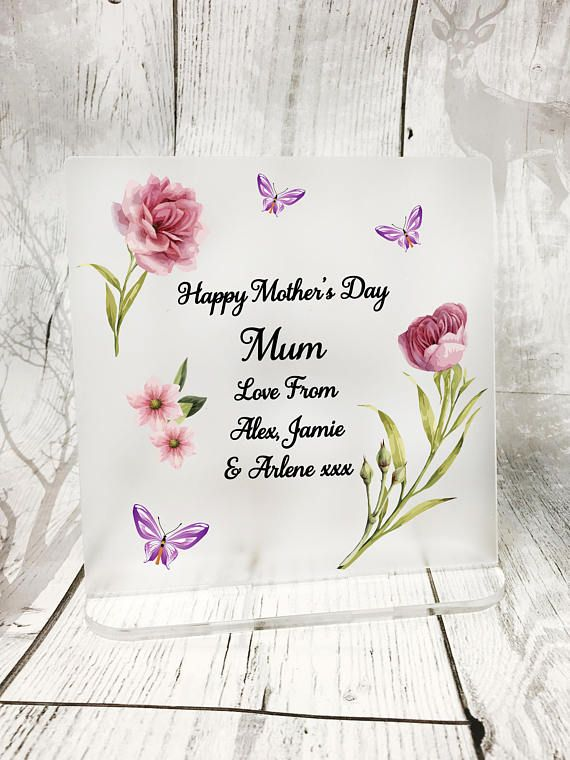 Mother S Day Gift Personalised Mother S Day Frosted Freestanding