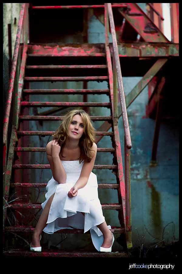 "I like this take on the ""Trash the Dress"" shoot. The vibe is irreverent and empowering, but the dress is un-molested."