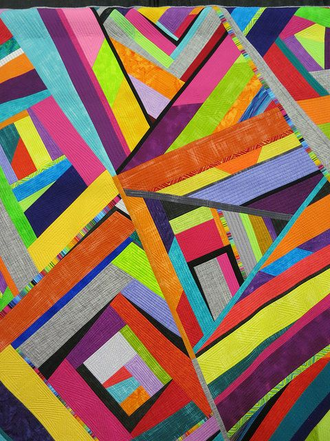 Random Acts of Piecing by BJ Titus. Pennsylvania National Quilt Extravaganza, 2014. Photo by Wayne Stratz.