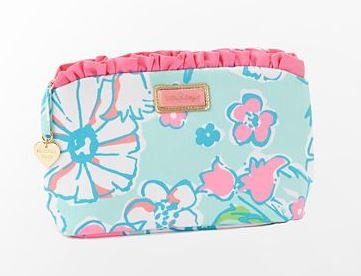 Lilly Pulitzer Summer '13- Frou Frou Makeup Bag in Sand Bar Blue Splish Splash