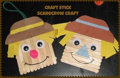 Art Craft Stick Scarecrow Craft Kid Blogger Network