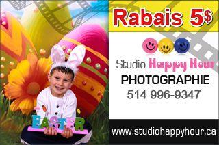 Séance photo Pâques à seulement 35 $ - Studio Happy Hour http://www.groupvaudreuil.com/Paques-seance-photo-studio-happy-hour