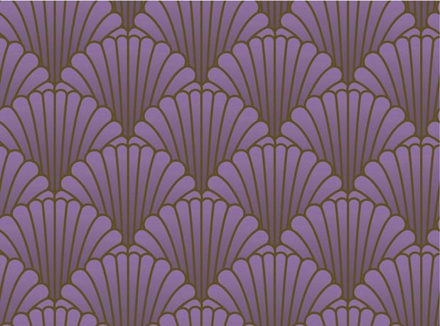 classic art deco patterns - fans and stripes