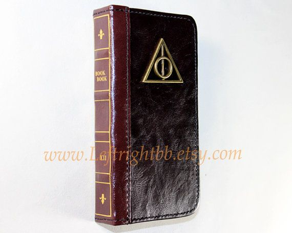 Old Book Case For Iphone : Leather phone wallet book case with deathly