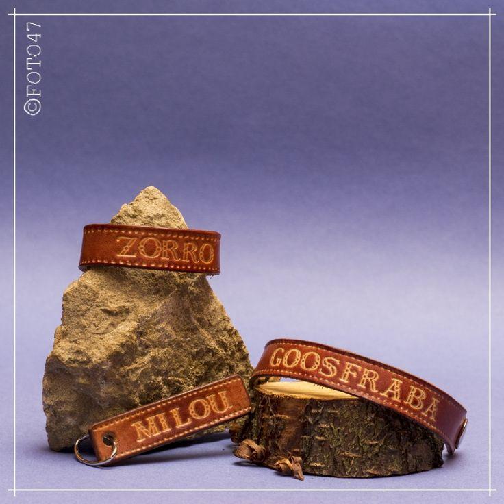 Tuiglederen armband met jouw eigen tekst
