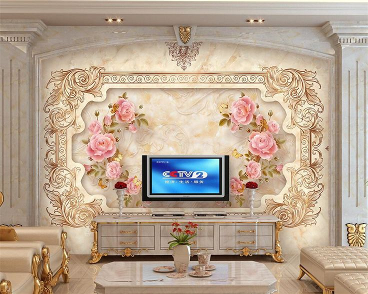 Beibehang 3D Wallpaper Living Room European Marble Rose Art Mural European  Mural Painting Home Decor Wallpaper Part 58