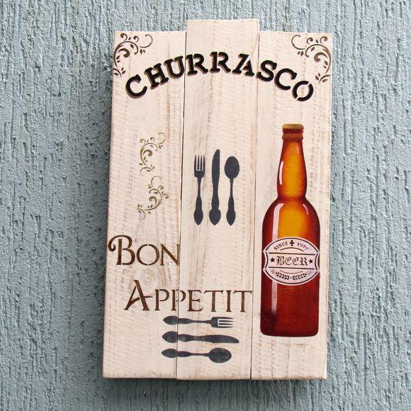 Placa decorativa churrasco