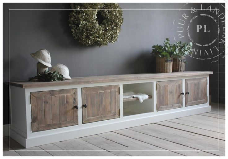 Maatwerk / landelijk tv meubel / OLD WOOD / 5 vaks | 》Landelijk tv meubel / flatscreenmeubel / flatscreenkast | Puur & Landelijk Living