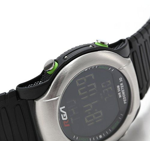 RGA Men's Waterproof Outdoor Digital Sport Watch Time Alarm Countdown Step Watch LED Multifunctional Luminous Electronic Casual Watches Cool Design for Adult Children Student (Red) 15.99  #Digitalwatch:Fashionablesportydialdesign,militarystyleoutlook.LargeDialandnumberswithlight,showtimeclearinthedark....
