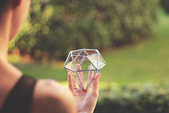 NEW Mini Geometric Terrarium / Diamond / Ring Pillow by Waen
