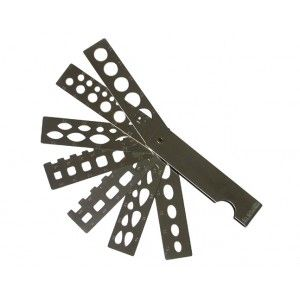 #calibre de forme type #eventaille à 7 branches. Disponible sur www.diaminor.com. #fan #stone #gauge 7 arms , #multiform. Available on www.diaminor.com