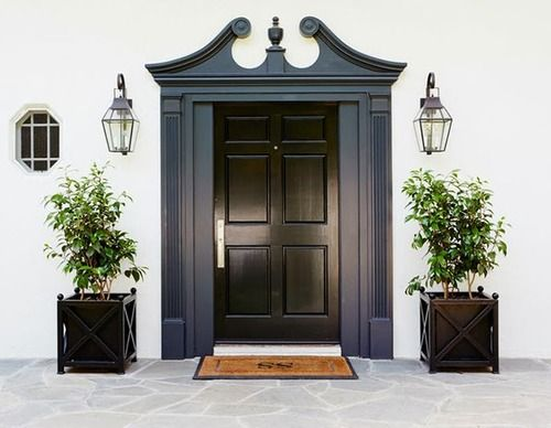 sweet house front double door design. Molly Sims front door includes symmetry with two sets of planters and  lanterns framing the grand 96 best First Impressions images on Pinterest Door entry