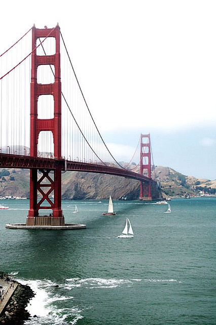 Golden Gate Bridge, San Francisco :) We road a tandem bike across to Saulalito and then over to Tuberon and caught the ferry back on July 4, 2014. I had broken ribs at the time so I couldn't manage my own bike :(.