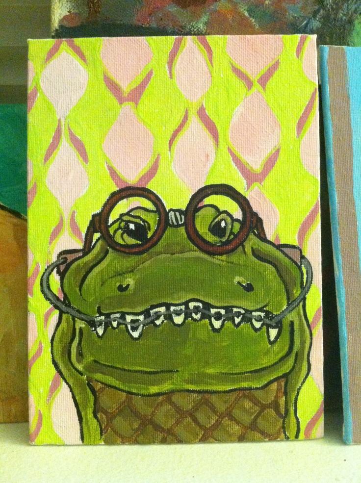 Nerdy gator