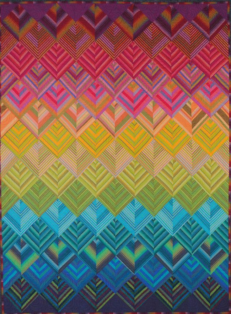 Rainbow Stripes quilt kit at The Sampler shop