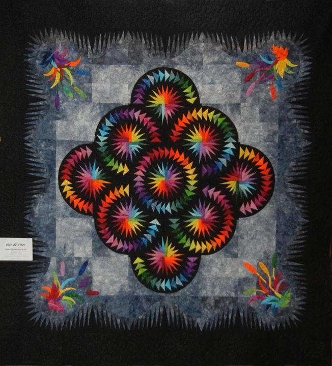 Misty Mountain Pond ~ Quiltworx.com  Kansas Capital Quilters Guild in Topeka, KS  We are using this for our 2012 opportunity quilt for  the ...