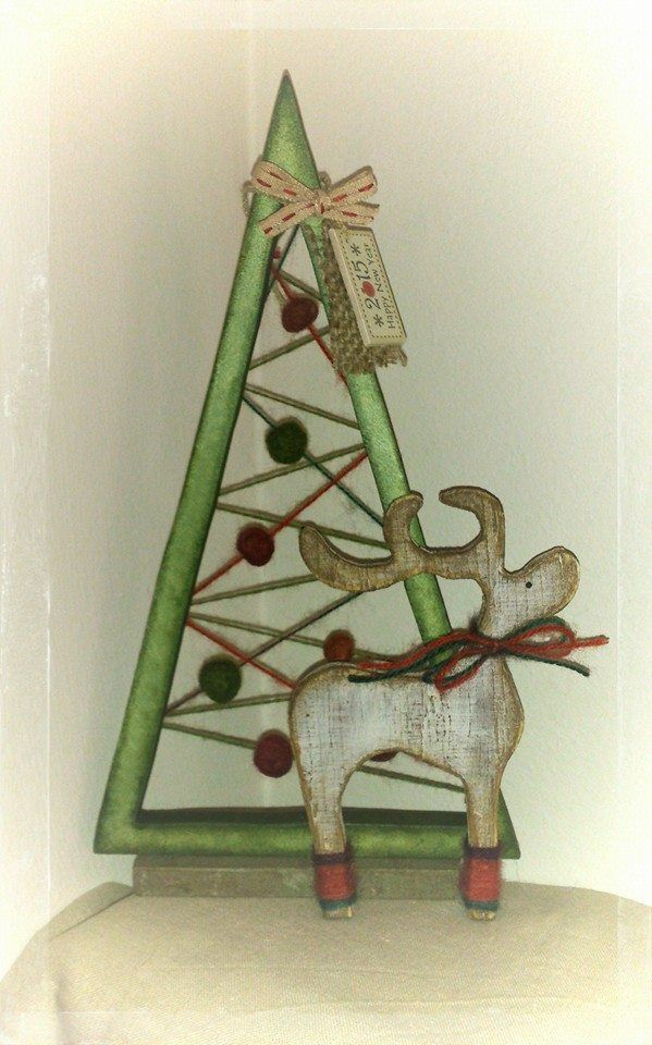Wooden christmas tree christmas crafts pinterest for Pinterest wood crafts for christmas