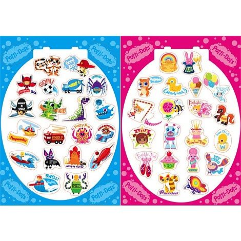 Potti-Dots potty training stickers are the ultimate in potty training fun for kids and parents! Bright and cheeky, they go straight on the outside of the potty or toilet in celebration of every little achievement- and best of all, they are 100% removable! Visit our website for more details.