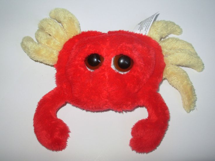 Russ Clawed Crab Peepers Plush Stuffed Animal Big Eyes Red