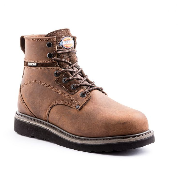 Dickies Cannon EH Men's Steel-Toe Waterproof Work Boots, Size: 10.5, Brown