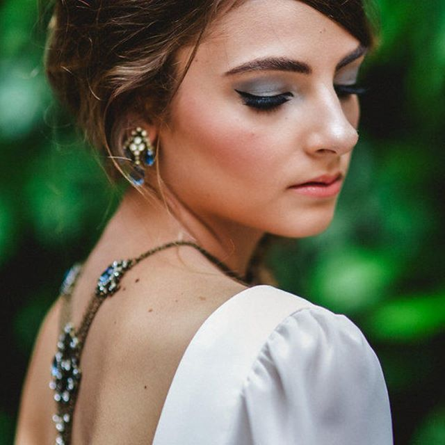 Loved being a part of this shoot...a modern take on a 70s retro bride // 70's bridal makeup // bridal photoshoot