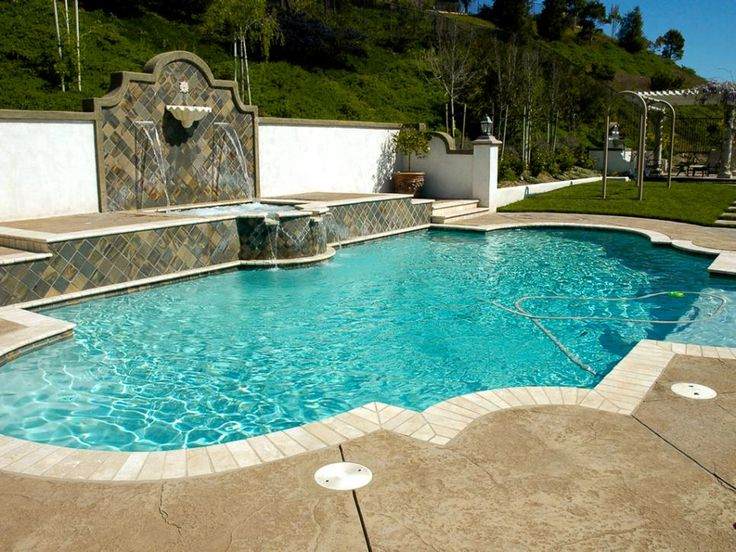 Mediterranean-style swimming pools will leave you dreaming of a European getaway. Browse through these designer pools to get some Mediterranean design inspiration for your own backyard.